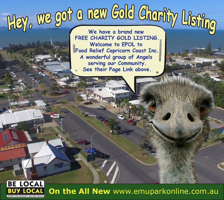 Food Relief Capricorn Coast  – new charity listing with Emu Park Online 3rd May 2020