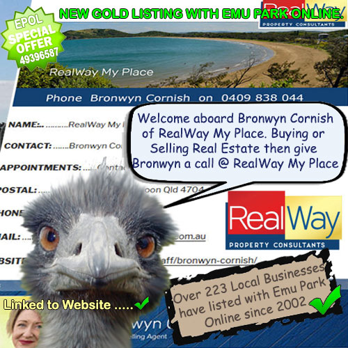 RealWay My Place–new GOLD LISTING with Emu Park Online